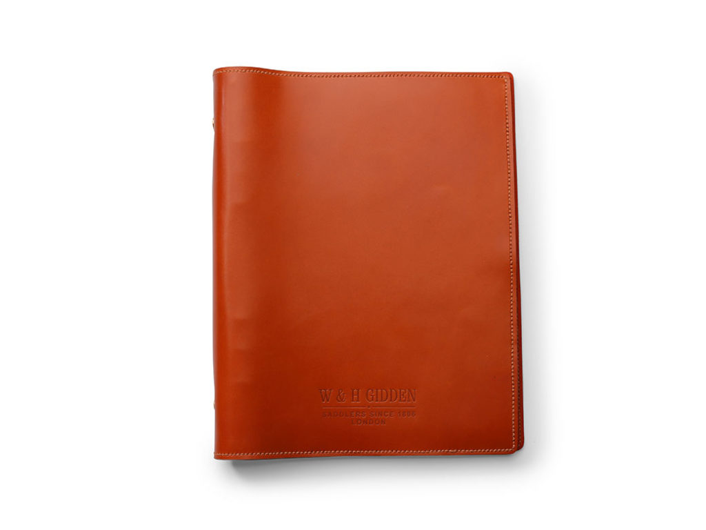 Orange Leather Notebook by W & H Gidden